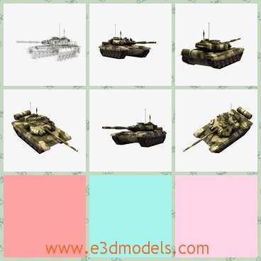 3d model a battle tank in Russia - This is a 3d model about the battle tank made in Russia.The tank is big and great,and the design is exactly like the ohters.