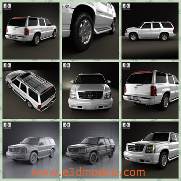 3d model a car of Cadillac - This is a 3d model of a Cadillac car made in 2002,which has longer body than the sedan cars.The roof can also be used to save stuffs.