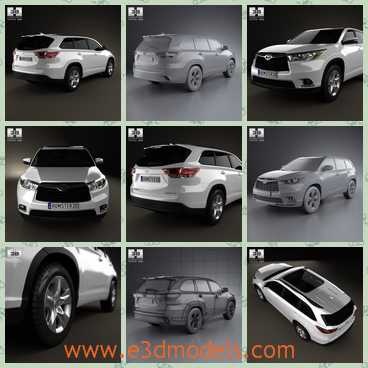 3d model a car of Toyota - This is a 3d model about the Toyota car,which is a SUV and it is made in Japan.The type is so popular in the Asian countries.