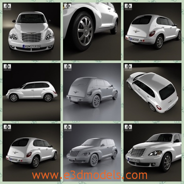 3d model a chrysler car with a hatchback - This is a 3d model of a Chrysler car with a hatchback,which is a SUV.The model is created on a real car base.