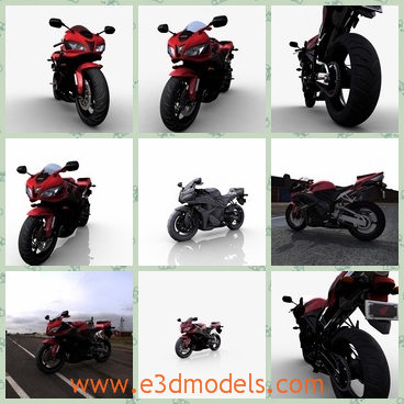 3d model a motorbike – a superbike - This is a 3d model of a motorbike,which is a superbike.The model is used by many people to sport and the bike is popular amongst the boys.