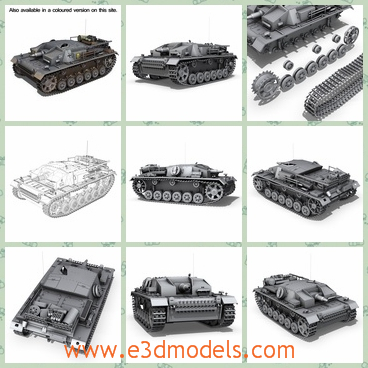 3d model a tank in a medium shape - This is a 3d model of a tank,which is a medium one.The model is made of many materials and it is uneasy to created.