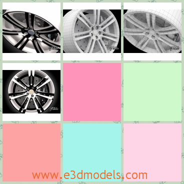 3d model a tire with shining color - This is a 3d model of a shining tire with the special design on it.The car with this kind of tire is fast and the brake is sharp.