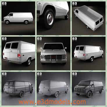 3d model gmc vandura panel van - This is a 3d model about the GMC Vandura Panel,which seems to made to deliver stock of goods.The shape is roomy.