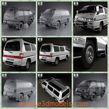 3d Model Of Mitsubishi Delica Star Wagon Share And Download 3d
