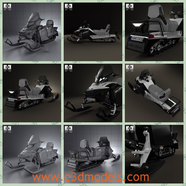 3d model snowmobile in 2012 - This is a 3d model of the snowmobile ,which is made in 2012 and the type is sport type.The model is created accurately, in real units of measurement, qualitatively and maximally close to the original.