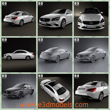 3d model the Benz car in classical style - This is a 3d model of the Benz car in classical stylw,which is the sedan in white and the shape is common.