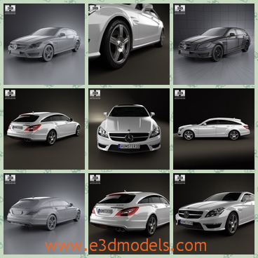 3d model the Benz car made in 2013 - This is a 3d model about the Benz car made in 2013,which can work as a wagon.The model is a luxury type.