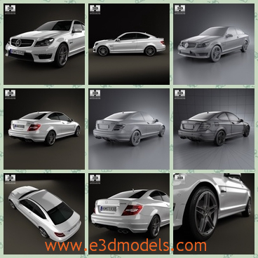 3d model the Benz car with two doors - This is a 3d model of the Benz car with two doors,which are created in Europe and the model is popular among the youth.