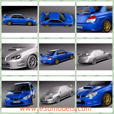 3d model the blue sports car - This is a 3d model of the blue sports car,which is made in Japan and the car is a sedan.The car is popular in the world.