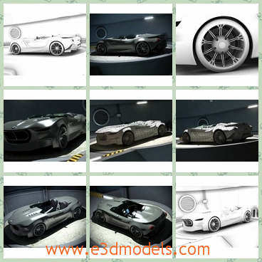3d model the BMW – sports car - This is a 3d model of the car of the BMW,which is created by a new concept of an European creator.