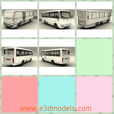 3d model the bus of Nissan - This is a 3d model of the bus of Nissan,which is used by the civilians in the city.The model is made in high quality.