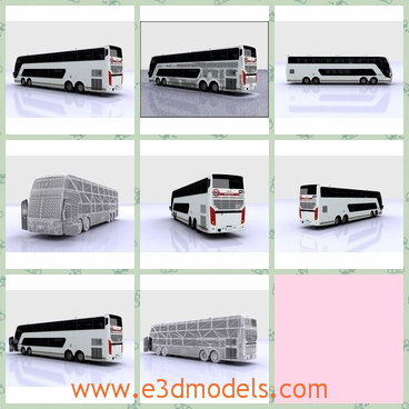3d model the bus with a long body - This is a 3d model of the bus with a long body,which is made in 2009 and the model is very practical.
