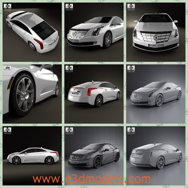 3d model the Cadillac in 2014 - This is a 3d model of the Cadillac in 2014,which is the newest type of the brand.The car is the new concept of a famous creator.