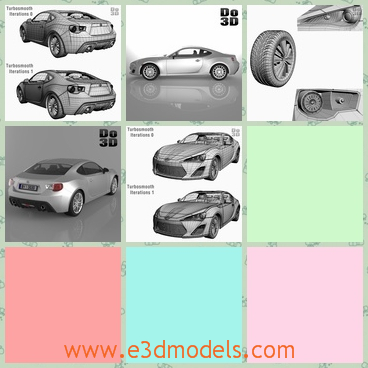3d model the car in 2013 - This is a 3d mdoel of the car in 2013,which is modern and large and the car was made in high quality.