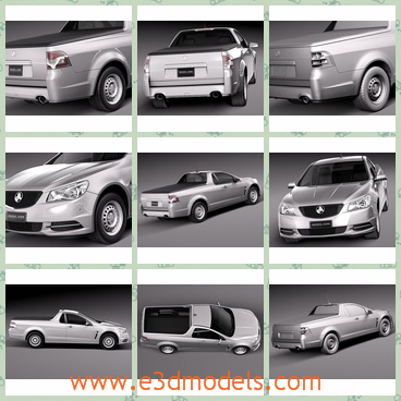 3d model the car in 2014 - This is a 3d model of the car in 2014,which is white and spacious and the model is famous around the world.