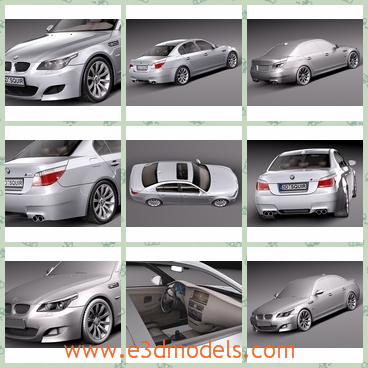 3d model the car of BMW - This is a 3d model of the car of BMW,which isn's made in the most fashionable style.The model is accepted frequently by people.