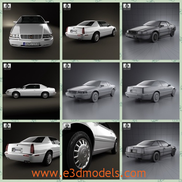 3d model the car of Cadillac in 2002 - This is a 3d model of the car of Cadillac in 2002,which is old and has two doors with it.The car still was the luxury at that time.