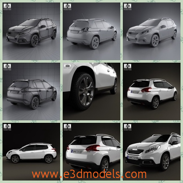 3d model the car of France - This is a 3d model of the car of France,which is modern and poopular in the world.