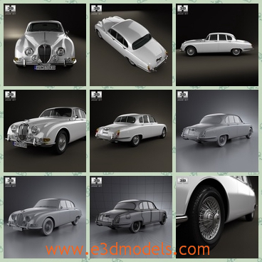 3d model the car type in 1963 - This is a 3d model of the car type in 1963,which has 4 doors and the car was made in ancient style.