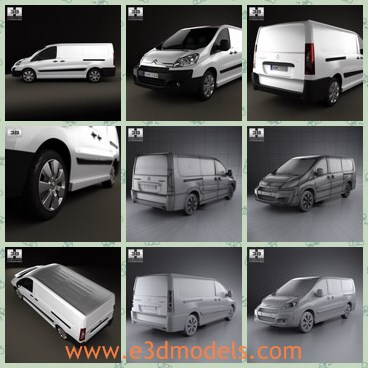 3d model the cargo van - This is a 3d model of the cargo van,which is spacious and modern.The can is made in France and popular for several years.