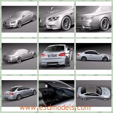 3d model the cars of BMW - This is a 3d model of the cars of BMW,which is made in 2013 and it was popular in the world.The model is modern and the car is a famous brand in Germany.