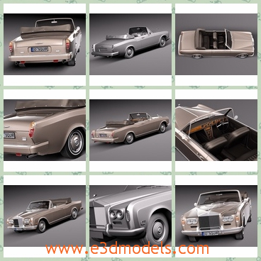 3d model the classis car in 1971 - This is a 3d model of the classic car in 1971 and the shape is outdated.The model was attractive at that time.
