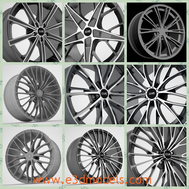 3d model the collection of rims - This is a 3d model of the collection of rims,which are fine and special and unforgettable at first sight.