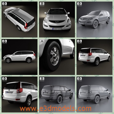 3d model the great wall made in China - This is a 3d model about the Great Wall car  made in China.The model is popular in China and many people support the car.