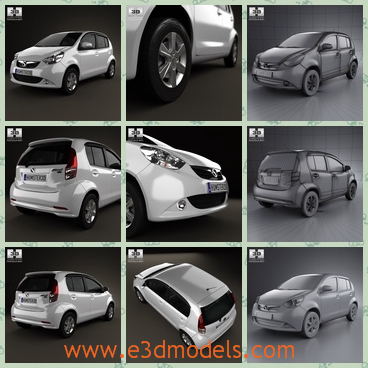 3d model the hatchback in 2012 - This is a 3d model of the hatchback in 2012,which is spacious and compact.The model is the car of Malaysia.
