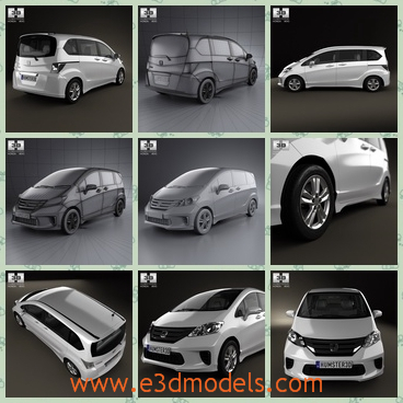 3d model the Japanese minivan - This is a 3d model of the Japanese minivan,which is made in 2012 and the van is practical and popular.