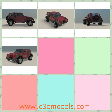 3d model the jeep car - This is a 3d model of the jeep car in Brazil,which is large and cool.The model is not the newest type of the brand but it is the most poopular one.
