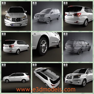 3d model the Korean car - This is a 3d model of the Korean car,which is large and spacious.The car is made in 2013 and then it becomes the most popular brand.