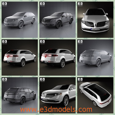 3d model the Lincoln car in 2013 - This is a 3d model of the Lincoln car in 2013,which is created accurately, in real units of measurement, qualitatively and maximally close to the original one.