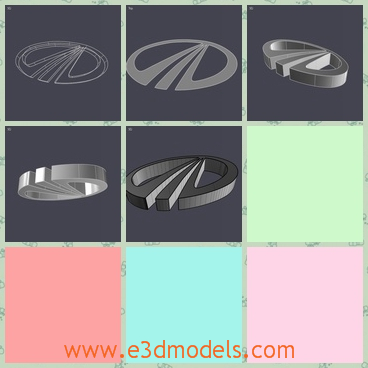 3d model the logo of the car in India - This is a 3d model of the emblem of the car in India,which is round and made of metal.The model is made in high quality.