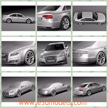 3d model the luxury car of Audi - This is a 3d model of the luxury car of Audi,which is modern and is the newest type of the car in the world.