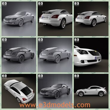 3d model the luxury sports car - This is a 3d model of the luxury sports car,which is modern and has the elegant and charming shape.