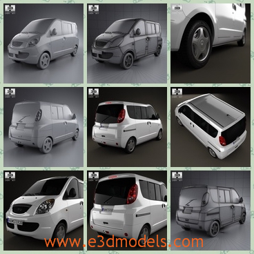 3d model the minivan in 2012 - This is a 3d model of the minivan in 2012,which is spacious and commodious.The van was made in 2012 and the it is popular in China.