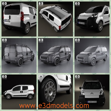 3d model the minivan in French - This is a 3d model minivan in French,which was the most popular type in 2011 when it eas firstly produced.