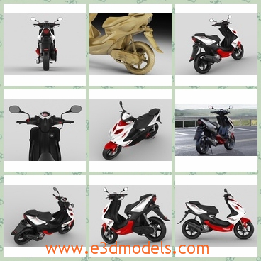 3d model the motorbike - This is a 3dmodel of the motorbike,which the Janpanese brand made in 2013.The model is cute and easy to control.