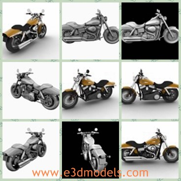 3d model the motorcycle - This is a 3d model of the motorcycle,which was made in 3ds Max 2010, which ensures compatibility from that version onwards.