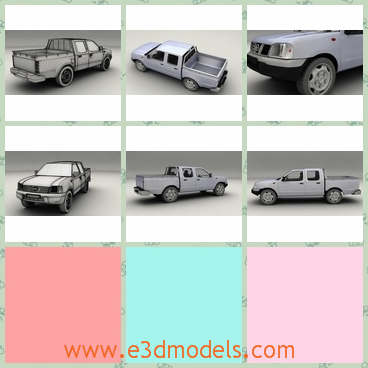 3d model the Nissan pickup truck - This is a 3d model of the Nissan pickup truck,which is made in high quality and the truck is practical.