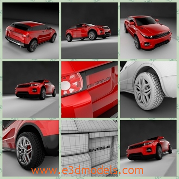 3d model the red car - This is a 3d model of the red car,which is modern and cool.Most young peopel are attracted by the car.
