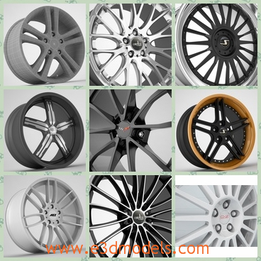 3d model the rim collection - This is a 3d model of the rim collection,which is the part of the car in the wheel and it is so important and expensive.