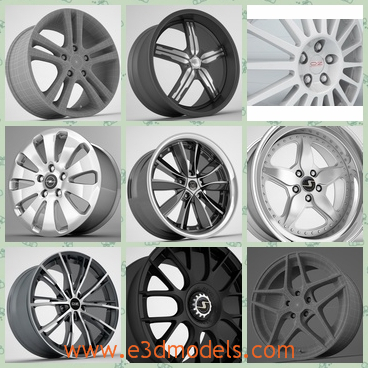 3d model the rims - This is a 3 model of the rims,which are the part of the wheel.The rims is inside of the wheel and the textures of the rim are fine and pretty.