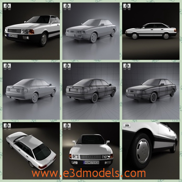3d model the saloon car in 1986 - This is a 3d model of the saloon car in 1986,which is the old style and the car has 4 doors with it and it was made in 1986.
