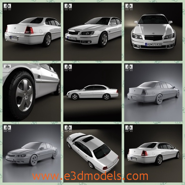 3d model the sedan car in 2006 - This is a 3d model of the sedan car in 2006,which is a little longer than other cars.The car was made in high quality.