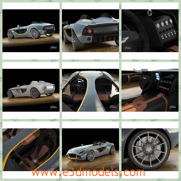 3d model the sports car in 2013 - This is a 3d model of the sports car in 2013,which is made in the modern style and the brand is famous in the Britain.