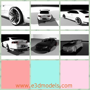 3d model the sports car of Audi - This is a 3d model of the sports car of Audi,which is white and modern.The car is very popular among the youn people around the world.