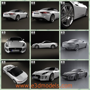 3d model the sports car of Britain - This is a 3d model of the sports car of Britain,which is the type in 2013 and the car has 2 doors.